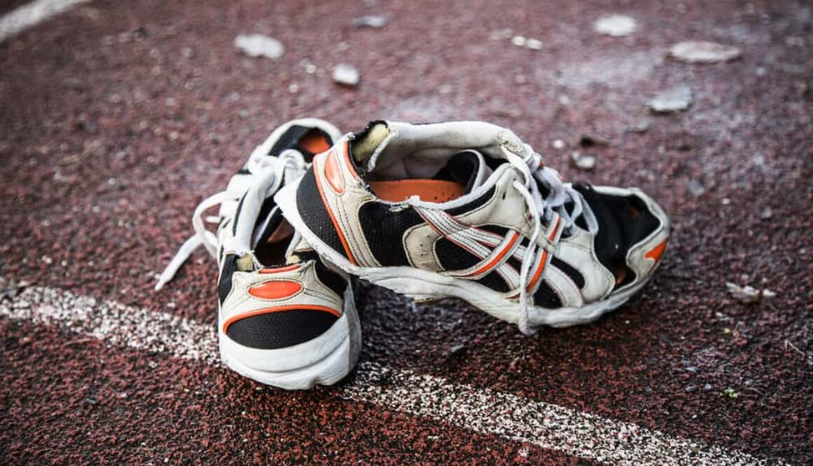 what to do with old running shoes